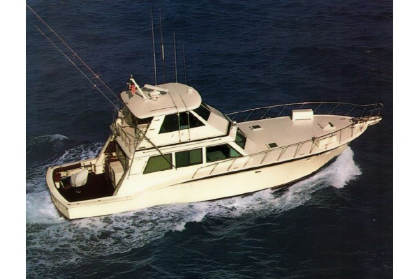 60' HATTERAS CONVERTIBLE ENCLOSED BRIDGE W/TOWER (1983) OFF MARKET