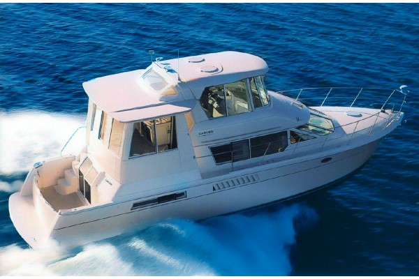 1998 50 39 carver 500 cockpit motor yacht for sale in marina for Large motor yachts for sale