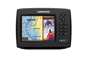 LOWRANCE HDS-7 Gen2 Fishfinder / Chartplotter Combo, Insight USA Cartography without Transducer
