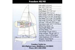 "40' FREEDOM YACHTS 40/40 (1997) ""CIRCE"""