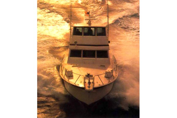 60' HATTERAS CONVERTIBLE ENCLOSED BRIDGE WITH TOWER (1985) OFF MARKET