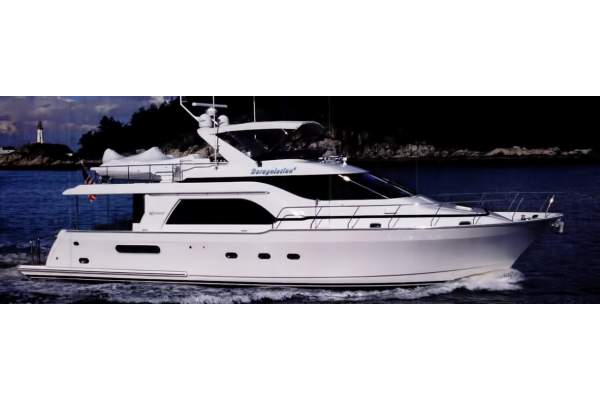 """64' QUEENSHIP 64 ADMIRALTY PILOTHOUSE (1999) """"JELLY FISHER"""" *LLC*"""