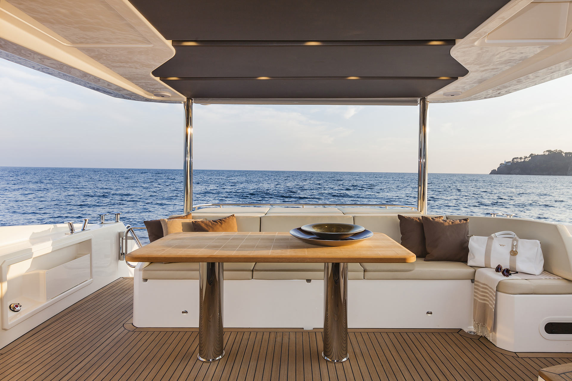 Absolute 60 Fly Luxury Yacht Deck