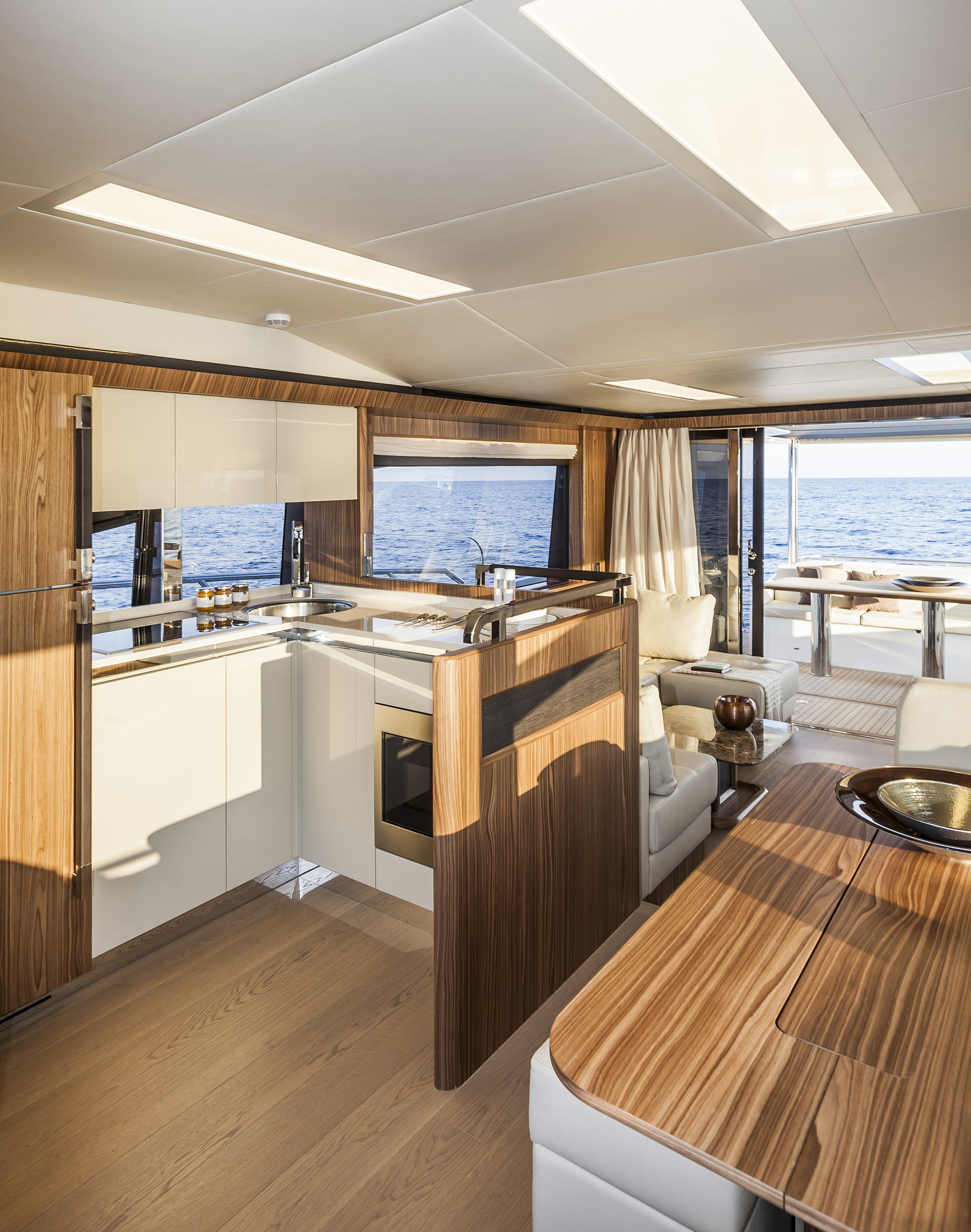 Absolute 60 Fly Luxury Yacht Salon Interior