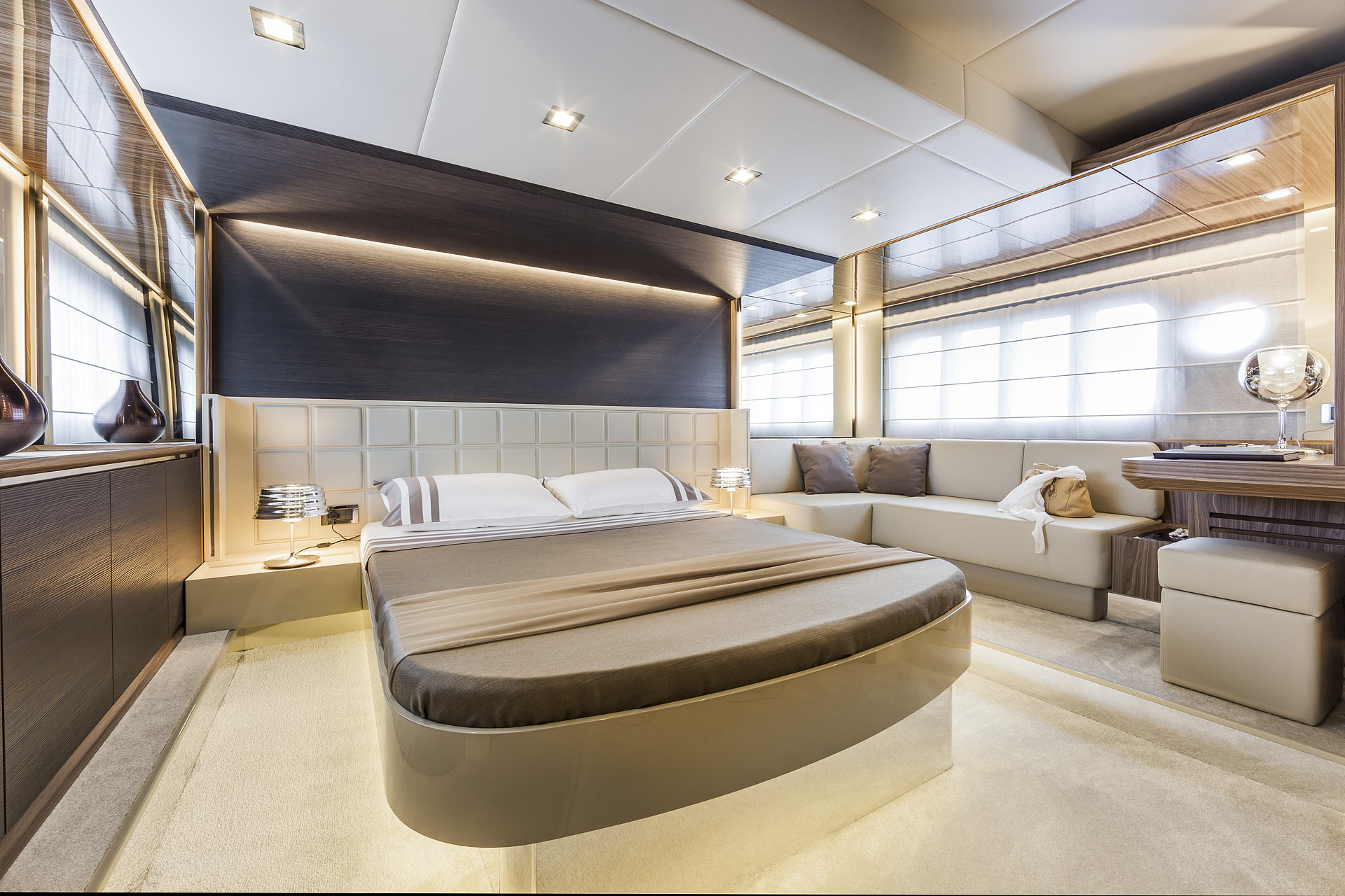 Absolute 60 Fly Luxury Yacht Master Stateroom