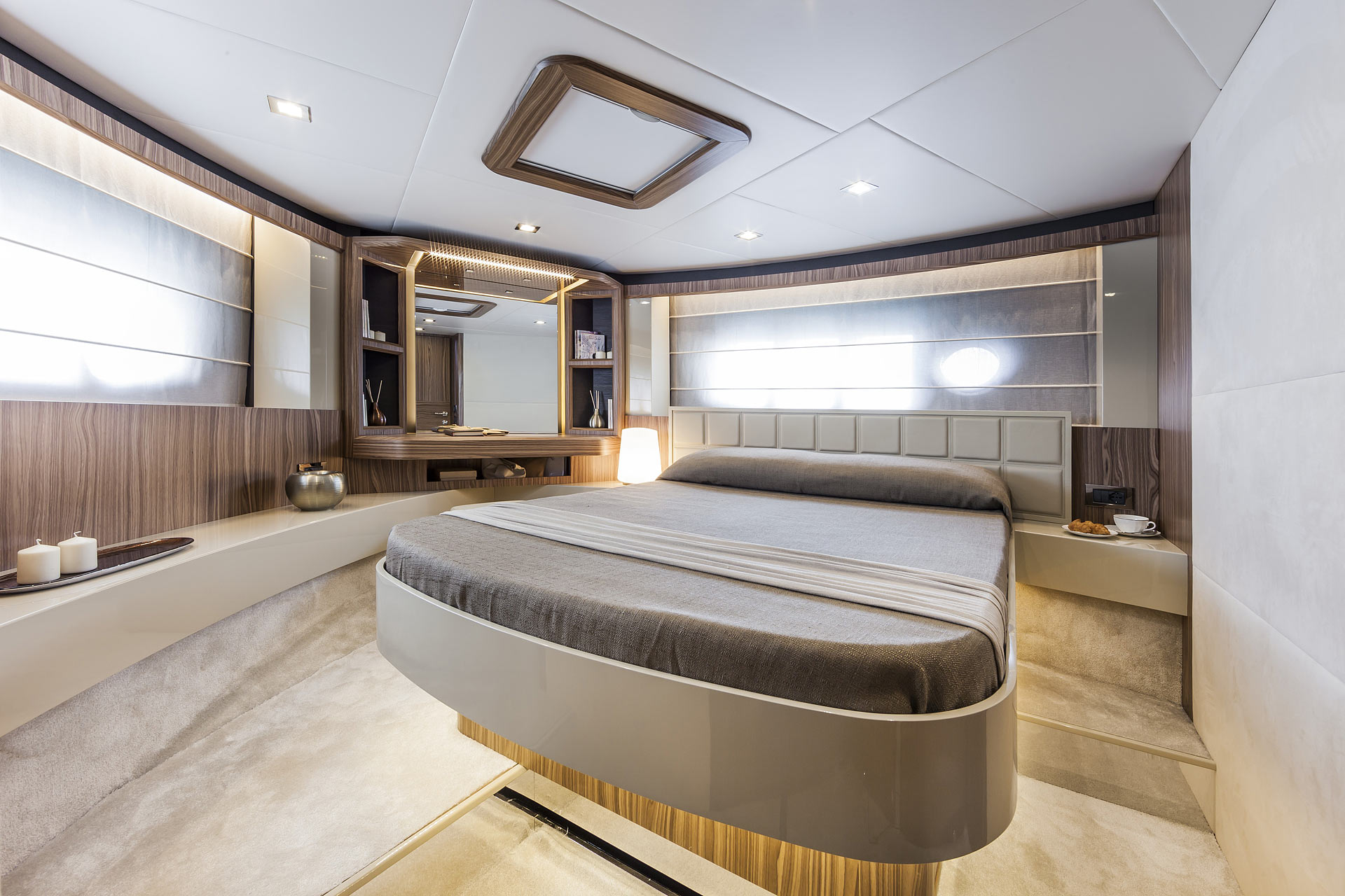 Absolute 60 Fly Luxury Yacht Guest Bedroom