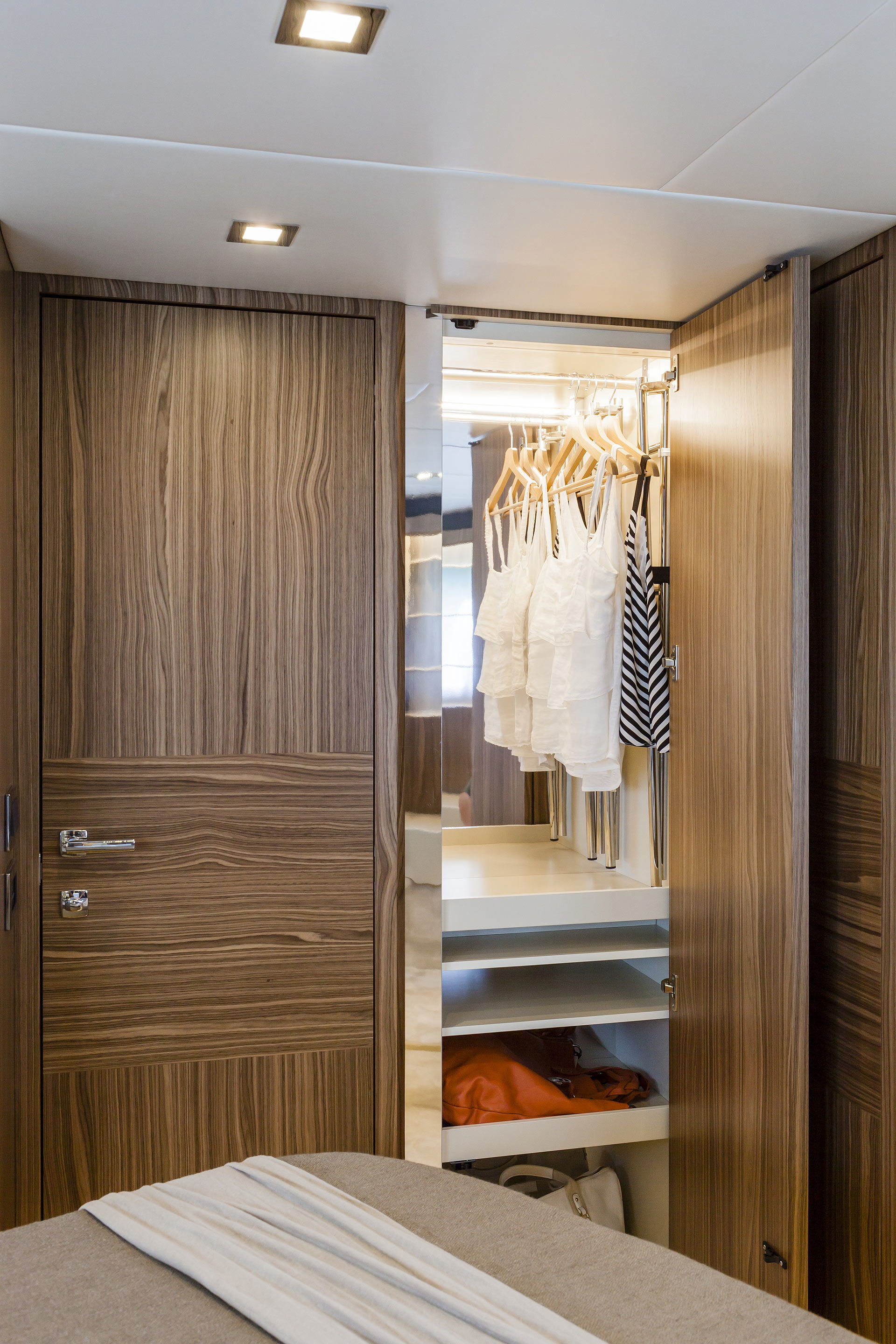 Absolute 60 Fly Luxury Yacht Closet