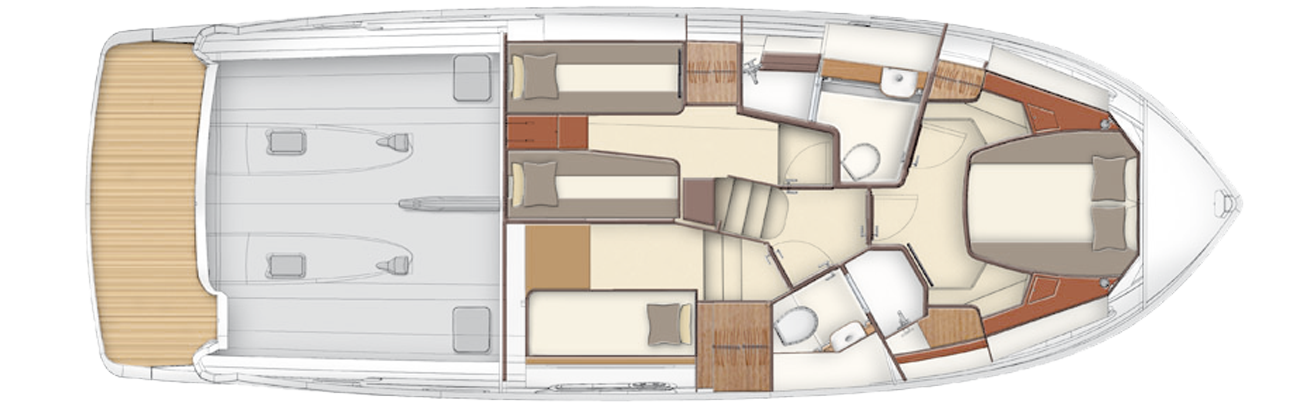 Azimut Magellano 43 Interior Layout