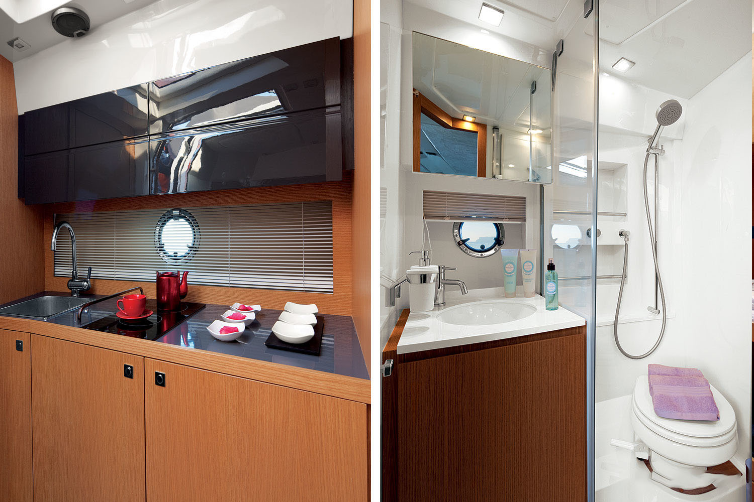 Azimut Atlantis 38 Galley Bathroom