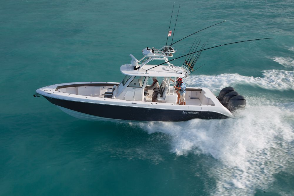 Everglades 355T on the water