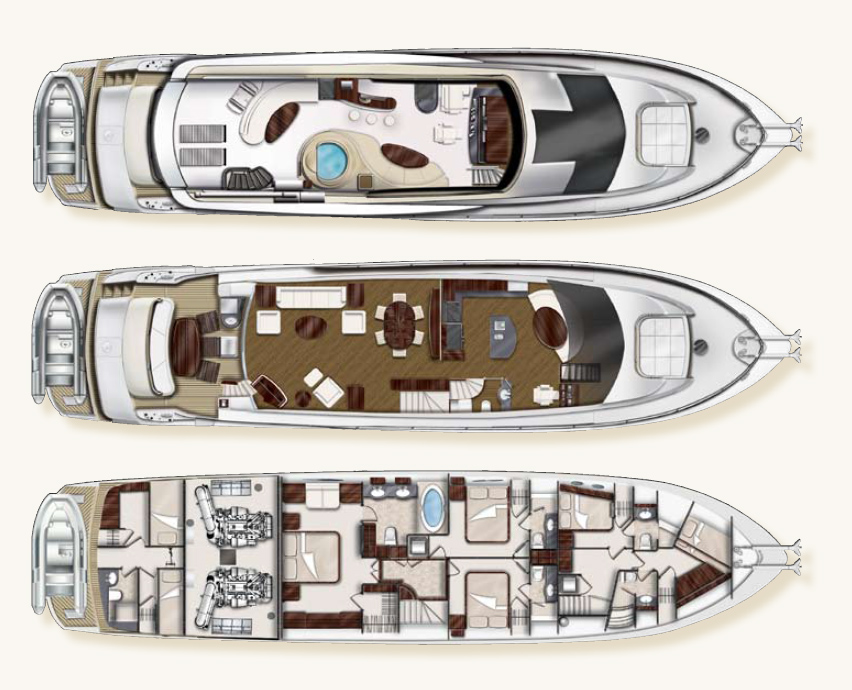 Lazzara 84 Deck Layout