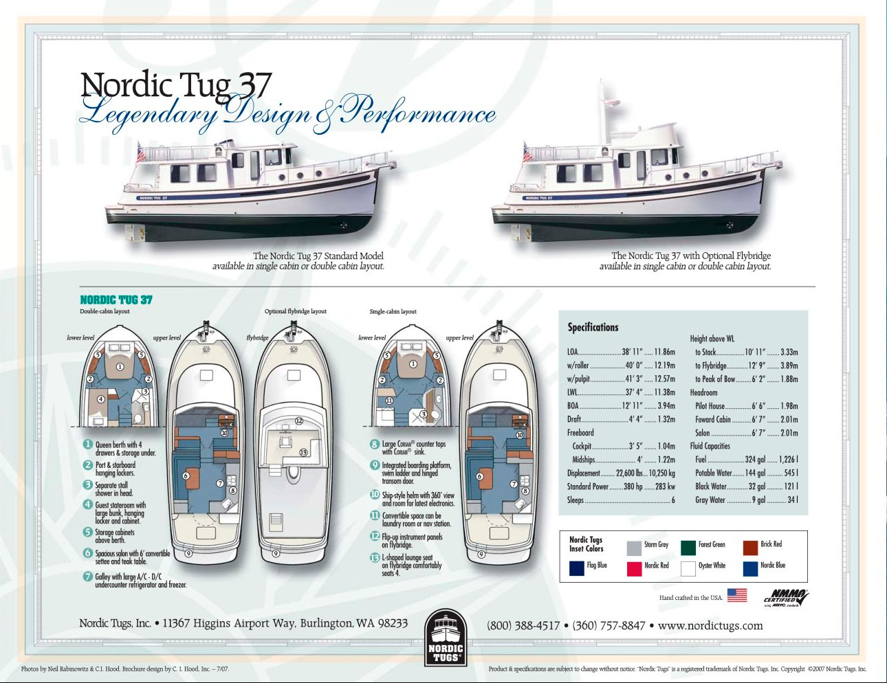 Nordic Tugs 37 Specifications