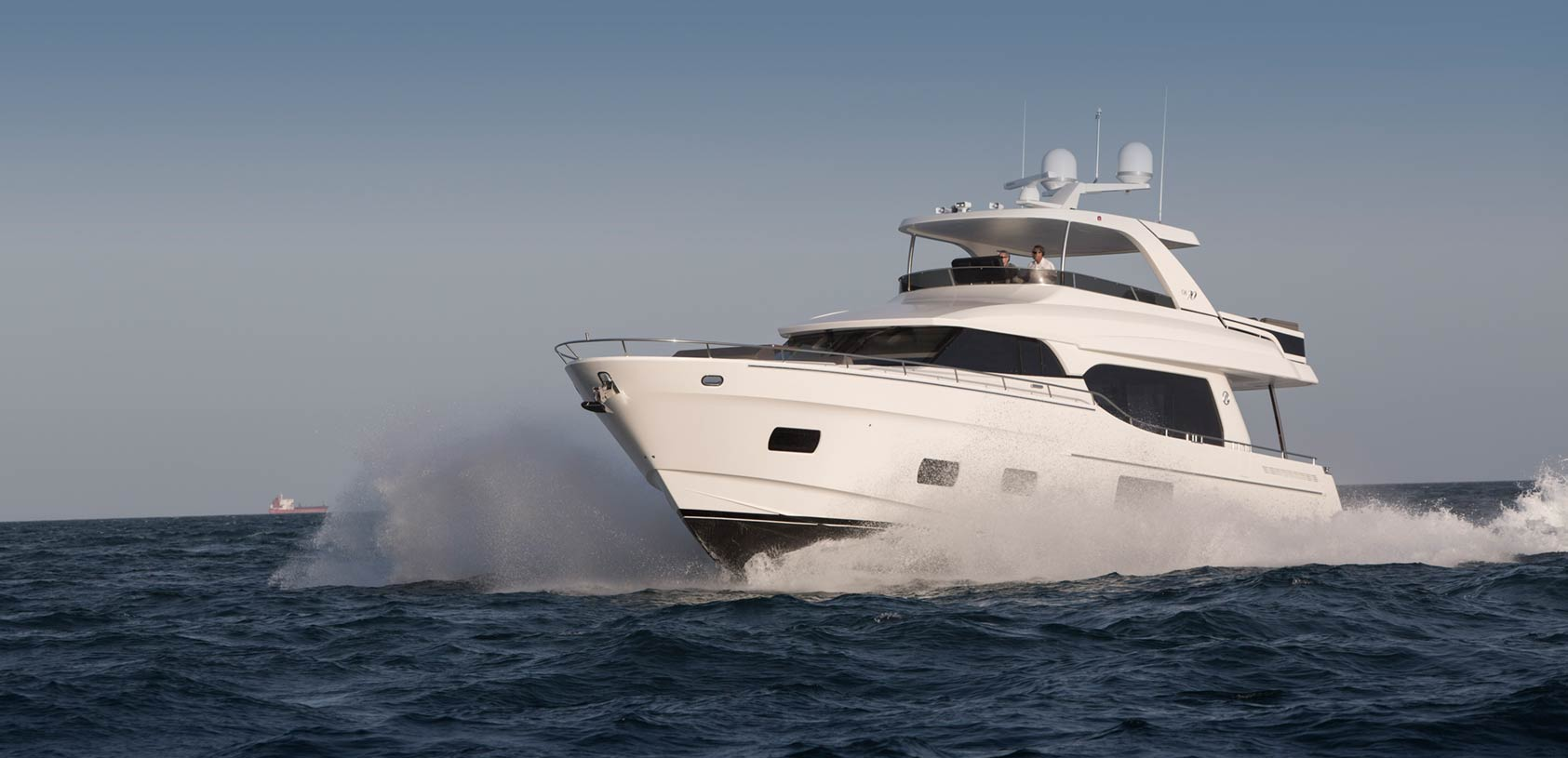 Ocean Alexander 70e Luxury Yacht at sea