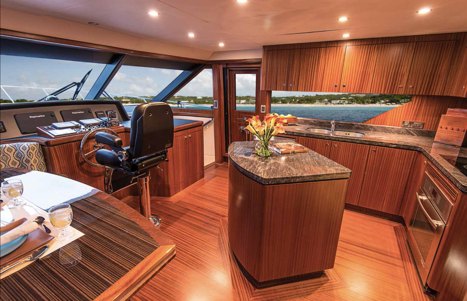 Ocean Alexander 72 Pilothouse Yacht Galley