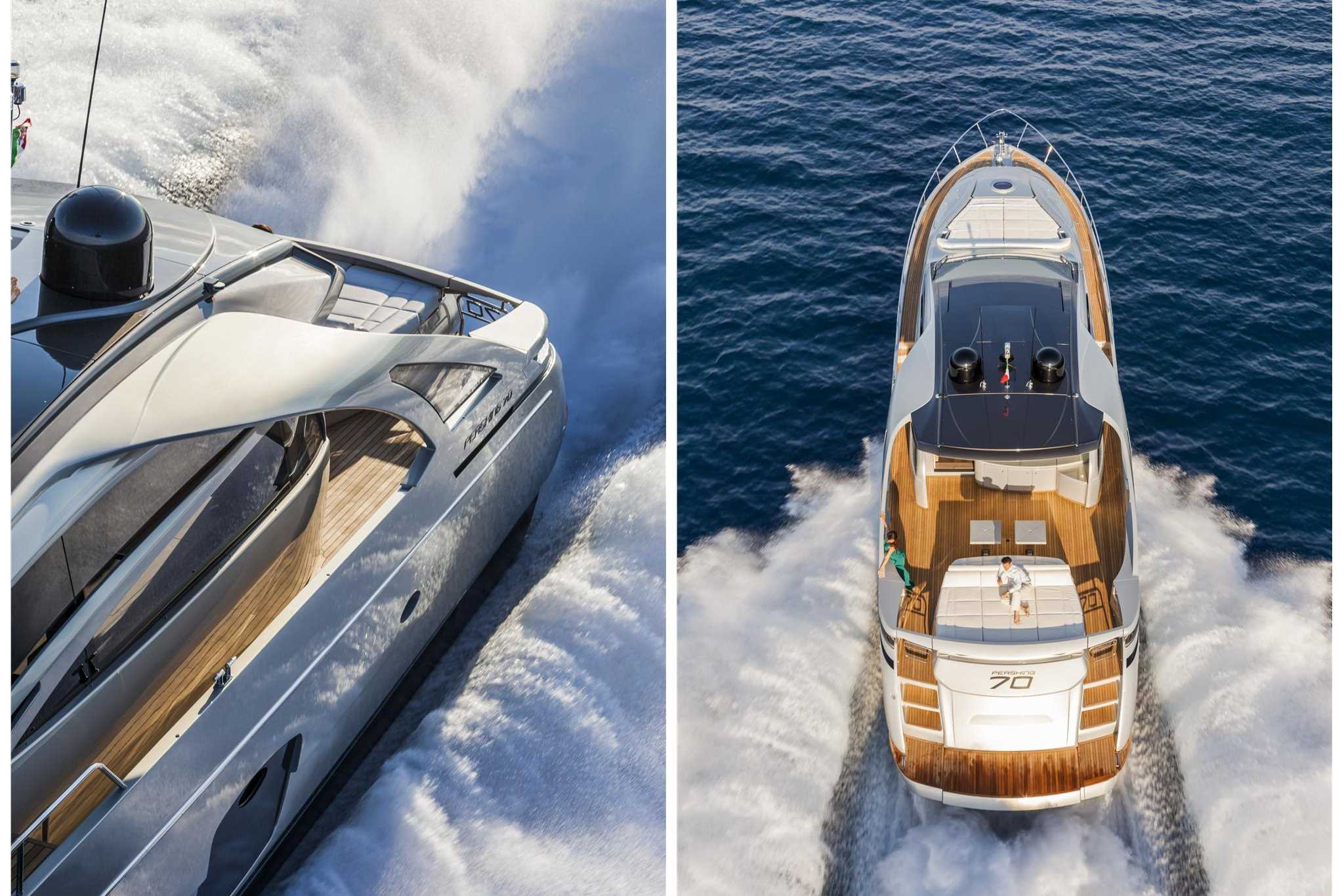 2018 Pershing Yachts 70 Running Photo