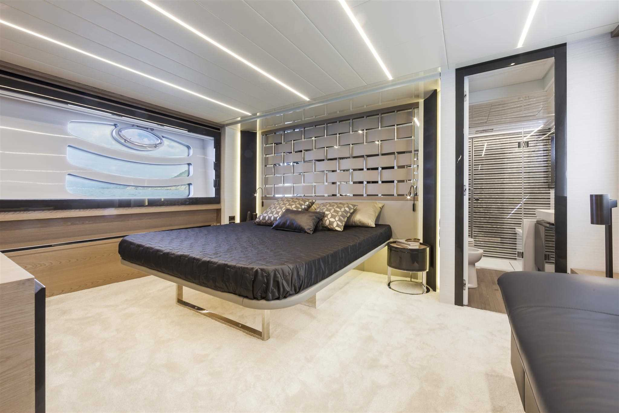 2018 Pershing 70 Luxury Yacht Master Bedroom
