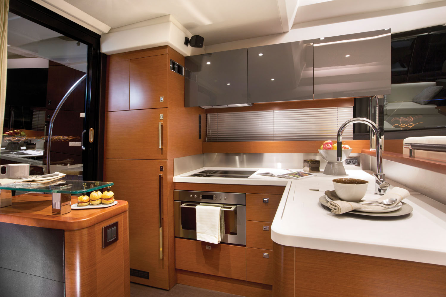 Prestige 550 Flybridge Yacht Galley Kitchen