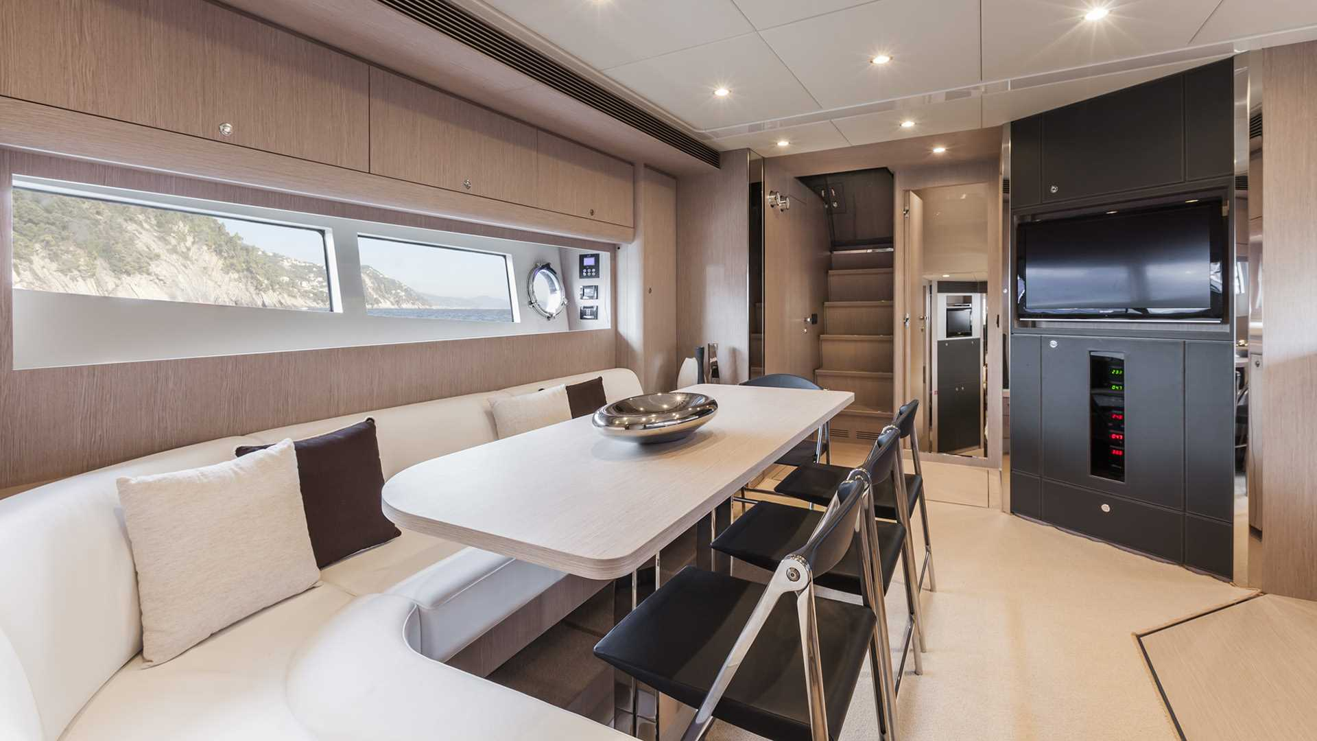 Riva 63 Virtus Luxury Yacht Interior Salon