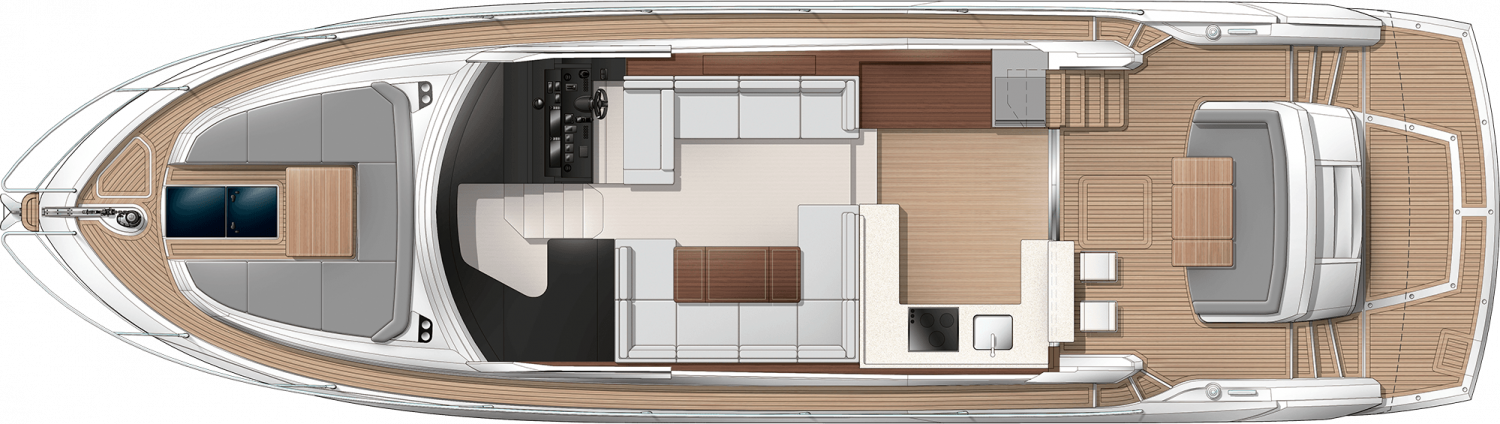 Sunseeker Manhattan 52 Main Deck